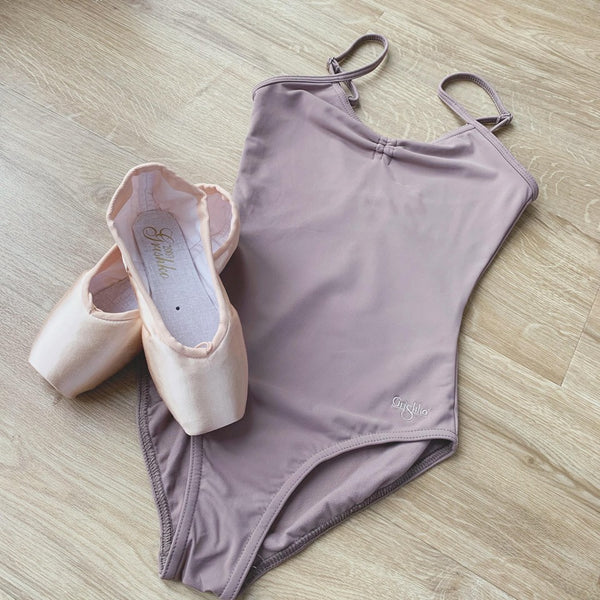 Grishko Coffee Camisole Ruched Front Leotard - Dazzle Dancewear Ltd