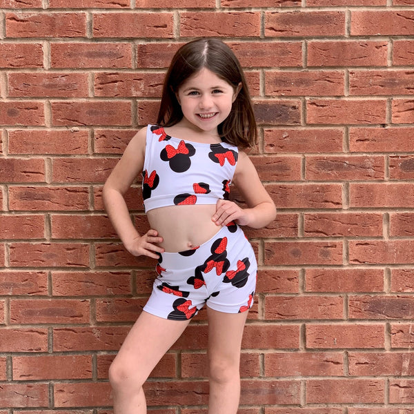 Minnie Two Piece Crop & Shorts Set - Dazzle Dancewear Ltd