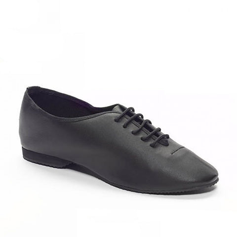 Tappers & Pointers Black Leather Jazz Shoes | Dazzle Dancewear Ltd