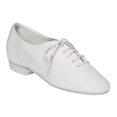 Tappers & Pointers White Full Sole Leather Jazz Shoes | Dazzle Dancewear Ltd