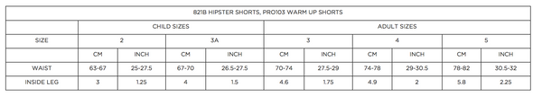 1st Position Cotton Elastane Warm Up Shorts