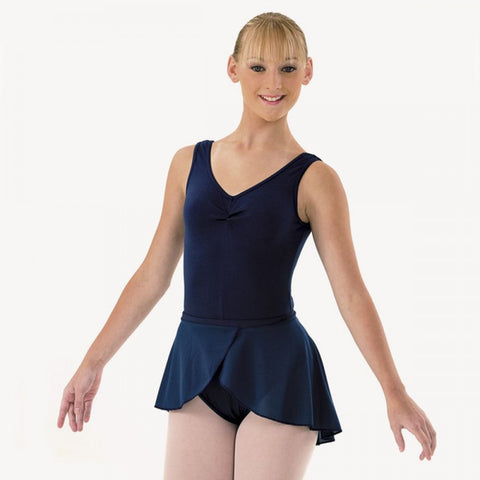 Adagio Navy ISTD Wrapover Skirt