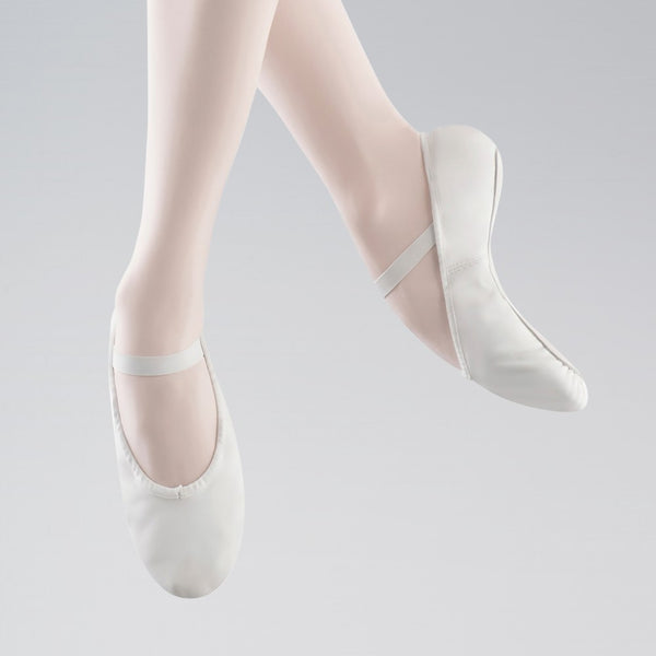 Bloch 209 Arise Full Sole White Leather Ballet Shoes