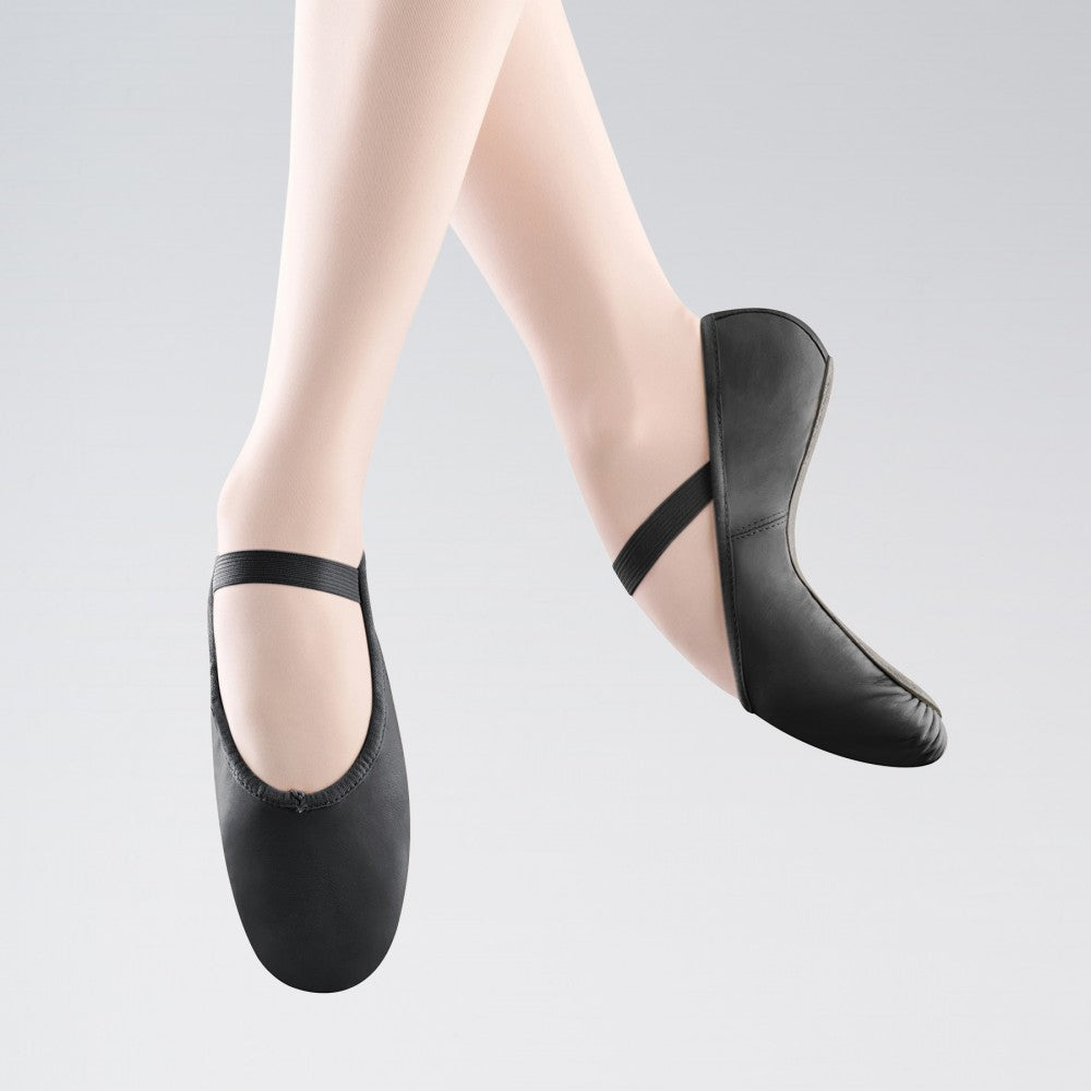 Bloch 209 Arise Full Sole Black Leather Ballet Shoes