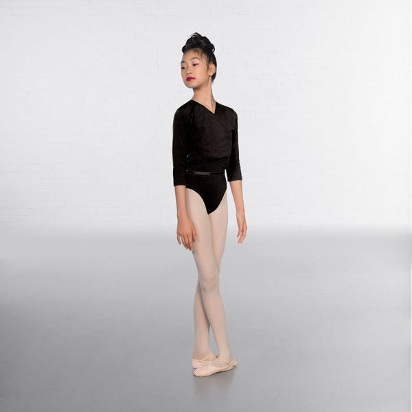 1st Position Black X Over Cardigan 3/4 sleeves  - Dazzle Dancewear Ltd