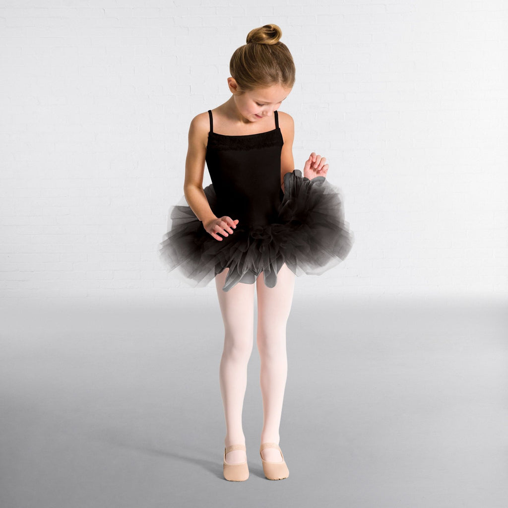 Capezio Ruffle Yoke Tutu Dress- Black/Pink/White - Dazzle Dancewear Ltd