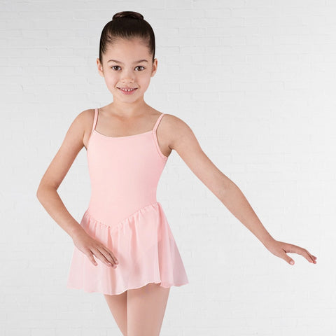 Bloch CL3977 Pink Blossom Camisole Leotard With Skirt - Dazzle Dancewear Ltd
