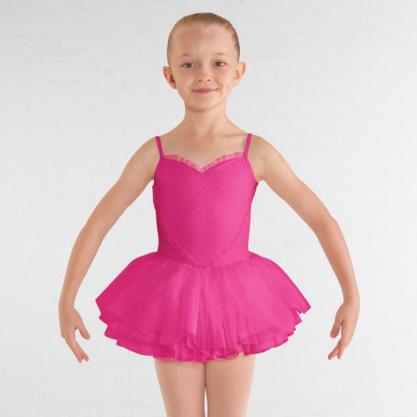 Bloch CL8168 Heart Mesh Bust Cami Tutu Leotard