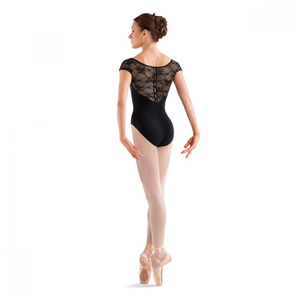 Bloch L6042 Chiwa Black Button Back Lace Leotard – Dazzle Dancewear Ltd a30b7a6bd
