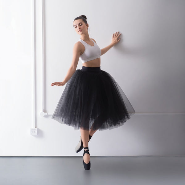 1st Position Prestige Romantic Tutu Skirt on Pants - Dazzle Dancewear Ltd