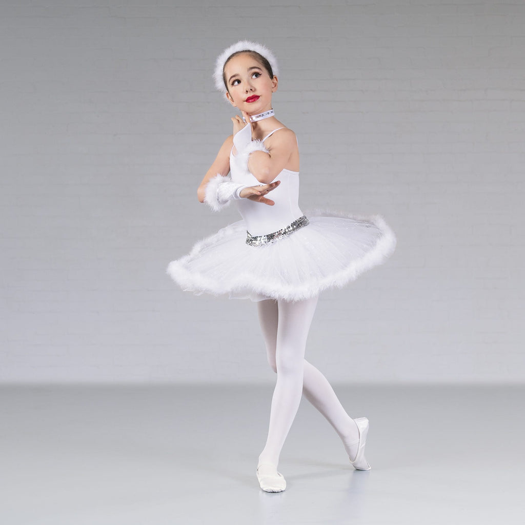 Snow queen skirt set (with mitts headband and choker)-Dazzle Dancewear Ltd
