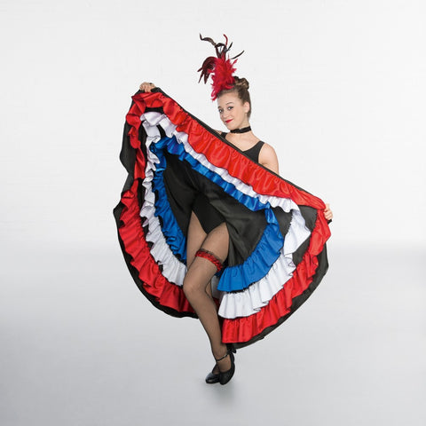 1st Position Red White Blue Can-Can Skirt - Dazzle Dancewear Ltd