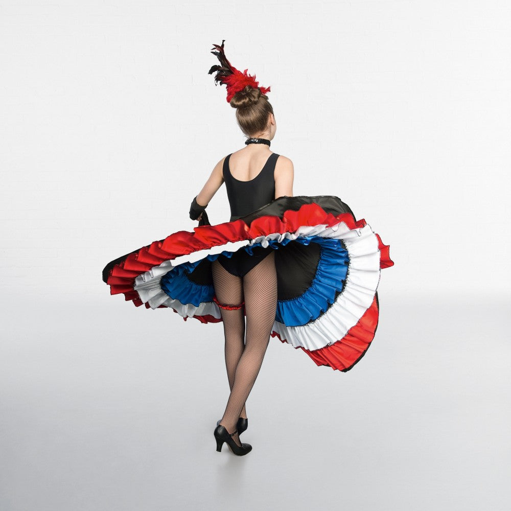 1st Position Red White Blue Can Can Skirt Dazzle