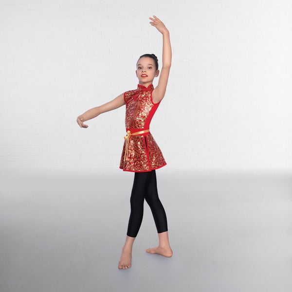 1st Position Chinese Sequin Over Dress - Dazzle Dancewear Ltd