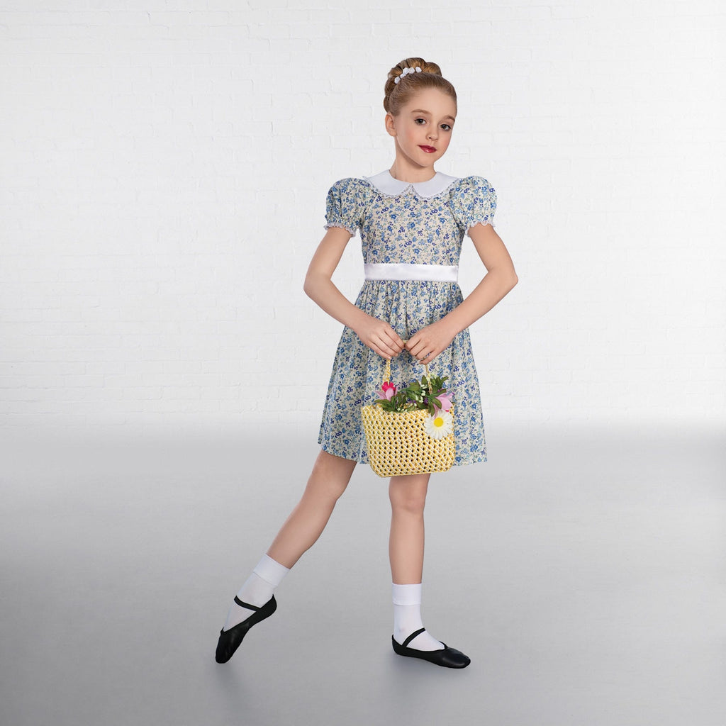 1st Position Frill Collared Floral Dress-Dazzle Dancewear Ltd