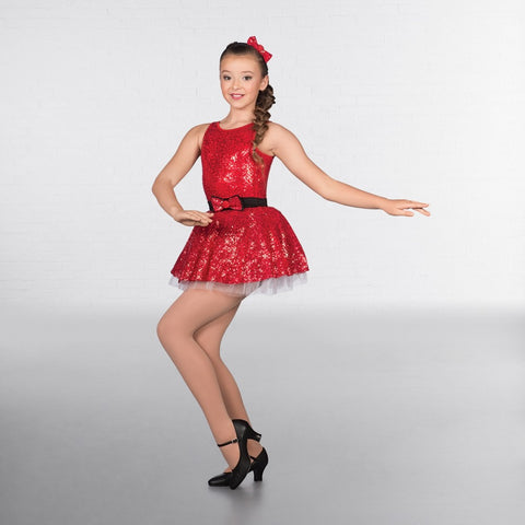 1st Position Red Sequin Ballet Dance Tutu