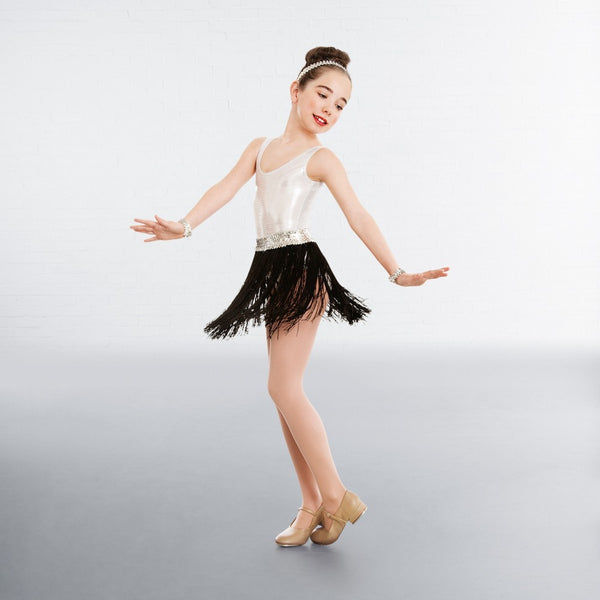 1st Position Sequin Waistband Fringe skirt - Dazzle Dancewear Ltd