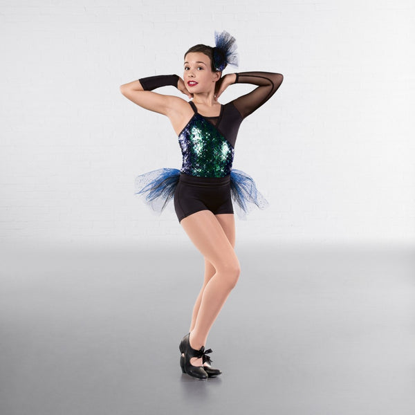 1st Position Blue/Green Contemporary Costume