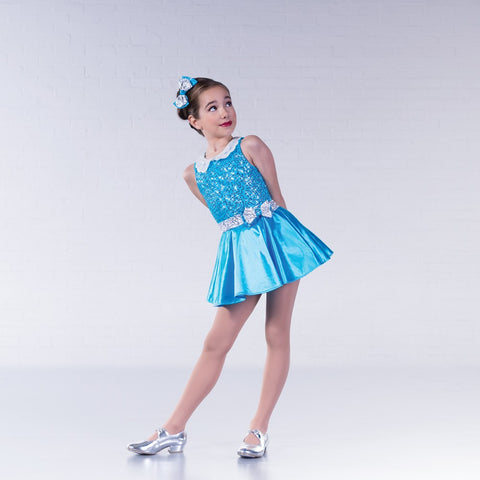 1st Position Blue Sequin Collar Glitz Costume