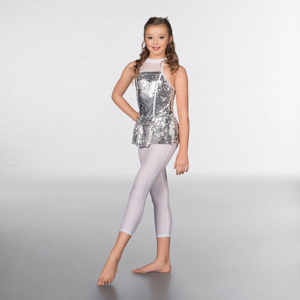 1st Position Sequin Glitz High Neck Two Piece