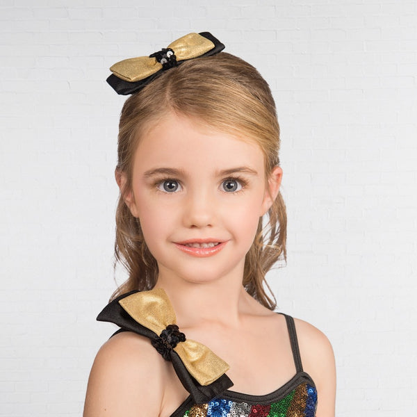 1st Position Multi Stripe Bow Glitz Dress