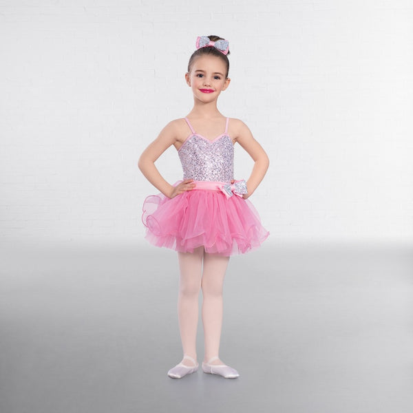 1st Position Candy Floss Sequin Glitz Dress - Dazzle Dancewear Ltd