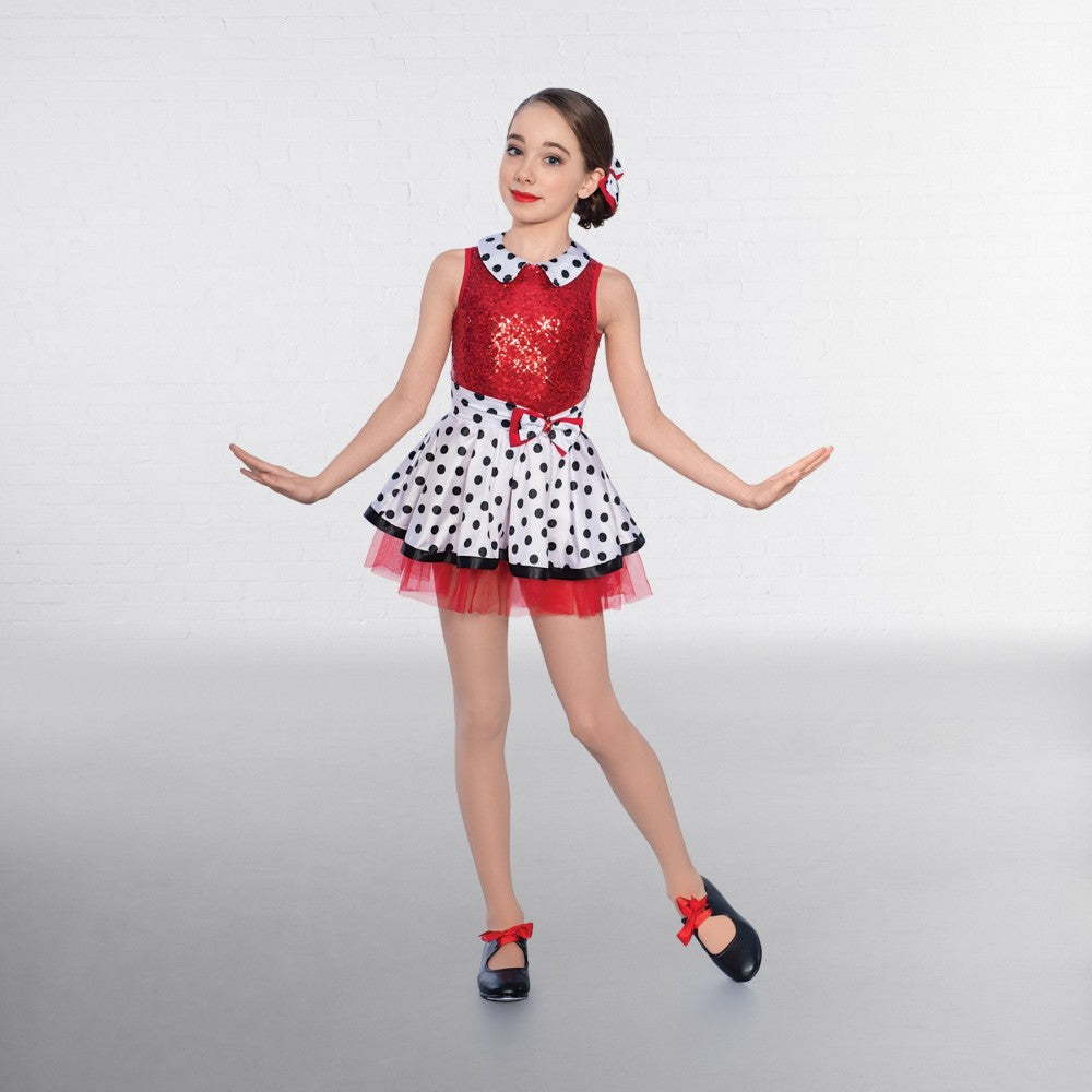 4d3f5cdf9a2f 1st Position Dotty Collar Sequin Glitz Dress – Dazzle Dancewear Ltd