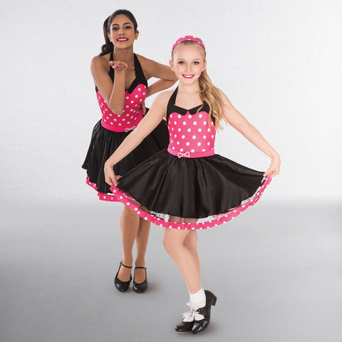 1st Position Rock n Roll Polka Dot Dress-Dazzle Dancewear Ltd