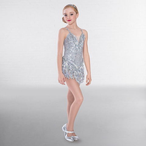 1st Position Sequin Fringe Glitz Dress - Dazzle Dancewear Ltd