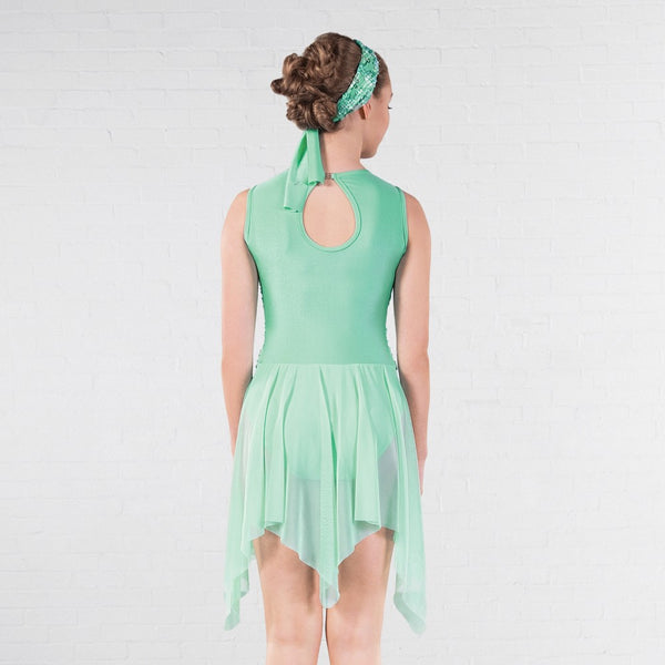 1st Position Mint Green Flower Pattern Lyrical Dress - Dazzle Dancewear Ltd