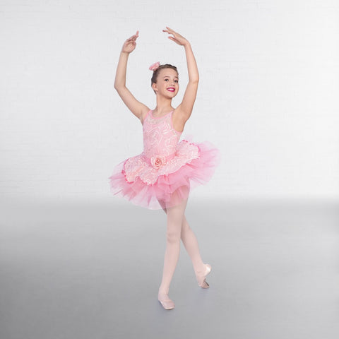 1st Position Pink Ribbon Mesh Tutu