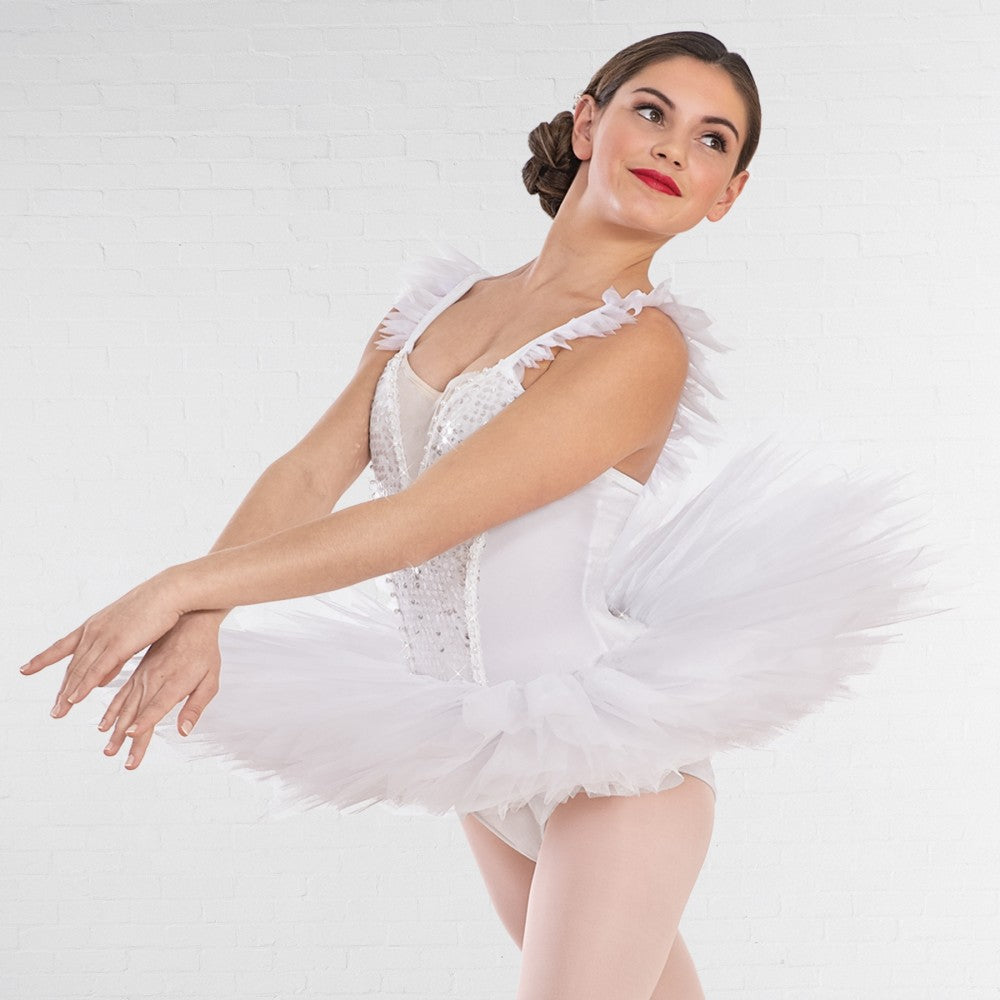 1st Position Odette White Feather-Edged Tutu - Dazzle Dancewear Ltd