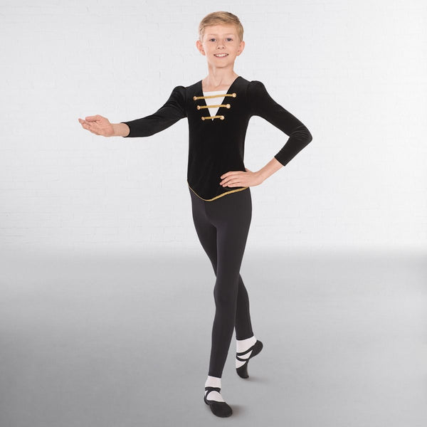 1st Position Male Velour Ballet Tunic - Dazzle Dancewear Ltd