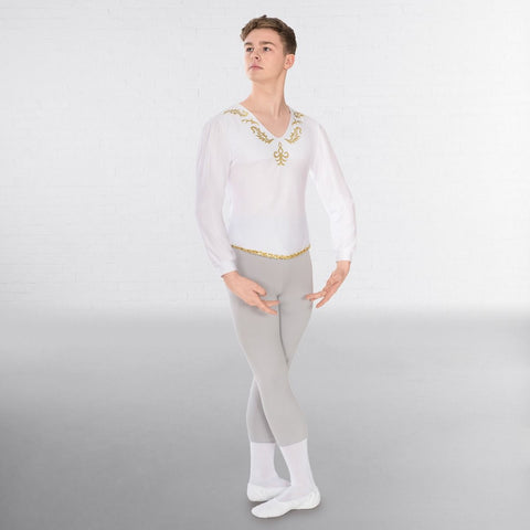1st Position Male Embroidered Ballet Shirt