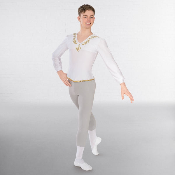 1st Position Male Embroidered Ballet Shirt - Dazzle Dancewear Ltd