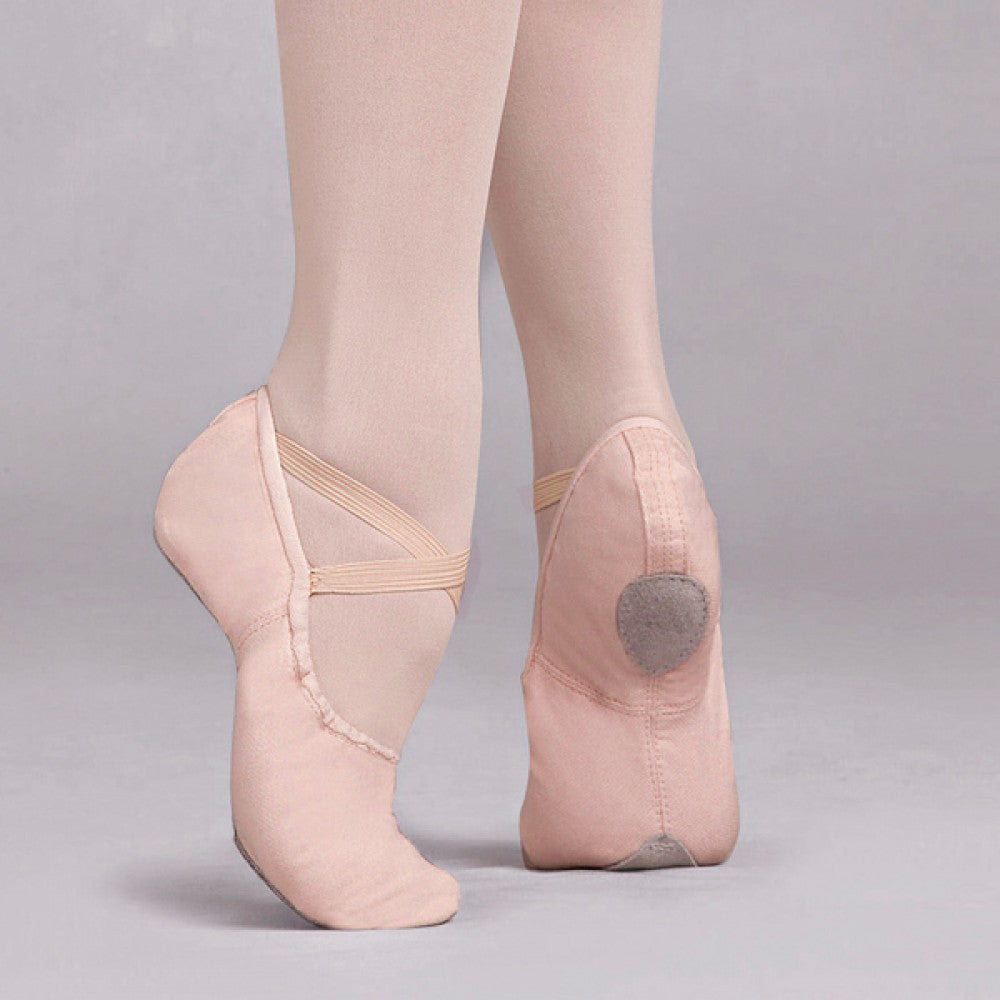 Capezio Cobra Pink Canvas Split Sole Ballet Shoes Dazzle - Abt ballet shoes