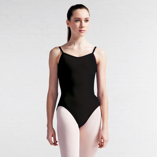 Capezio CC102 V Neck Black Camisole Leotard