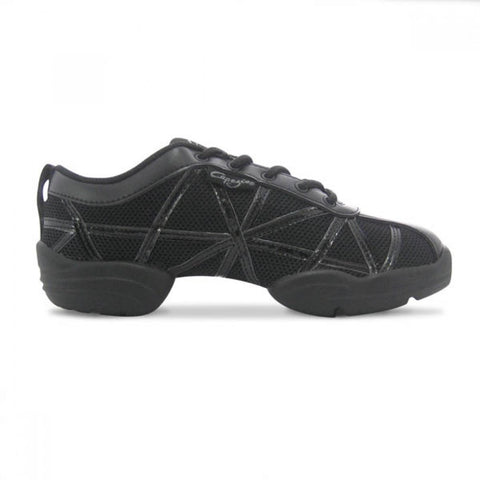 Capezio DS19 Black Web Dance Sneakers | Dazzle Dancewear Ltd