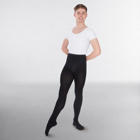 Capezio Men's Knit Footed Tights With Back Seams- Dazzle Dancewear Ltd