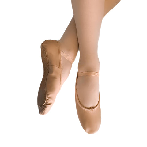 Pink Leather Full Sole Ballet Dance Shoes | Dazzle Dancewear Ltd