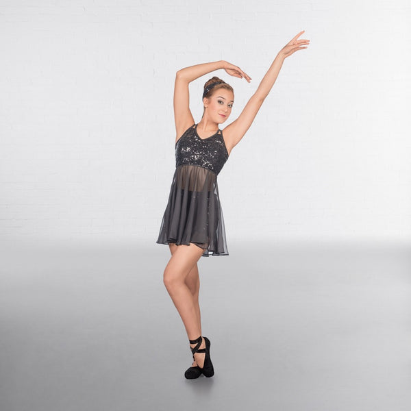 1st Position Skirted Sequin Crop Top With Shorts - Dazzle Dancewear Ltd