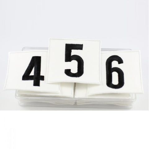 Embroidered Exam Identification Numbers - Dazzle Dancewear Ltd