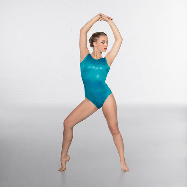 1st Position Hologram Shine Sleeveless Leotard