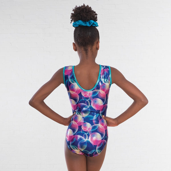 1st Position Pastel Bubble Print Sleeveless Leotard - Dazzle Dancewear Ltd