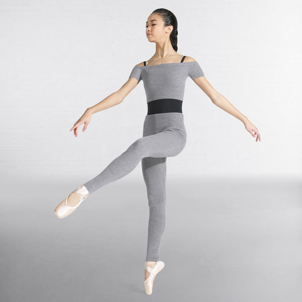 Capezio Rib Sweater Legging-Black/Pink/Grey - Dazzle Dancewear Ltd