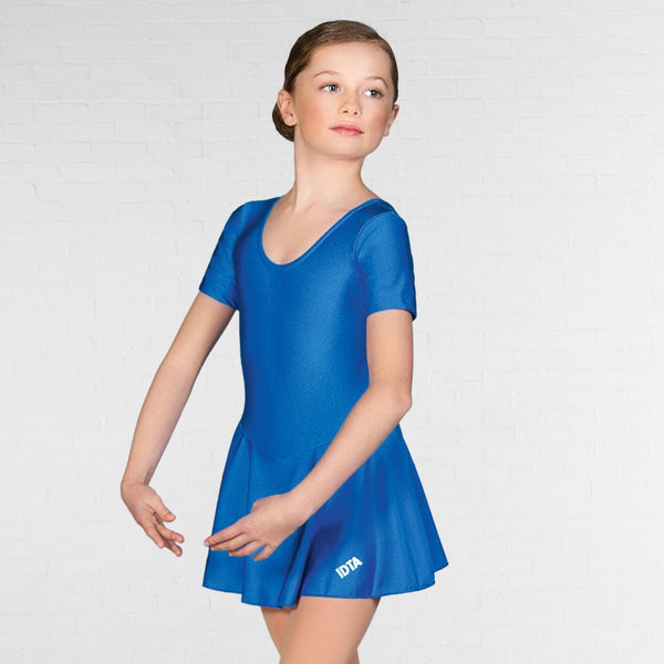 IDTA Nylon Elastane Skirted Ballet Dance Leotard - Dazzle Dancewear Ltd