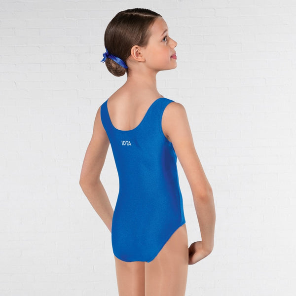 IDTA Royal Blue Ruched Front Ballet Dance Leotard - Dazzle Dancewear Ltd