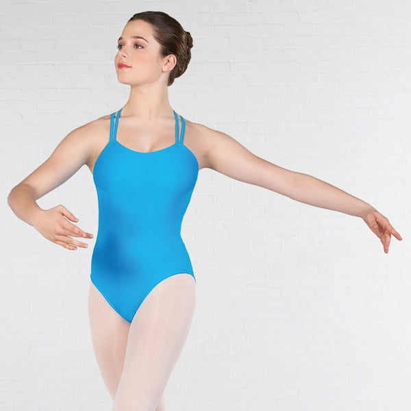 IDTA Double Strapped Leotard (Matt Nylon) - Dazzle Dancewear Ltd