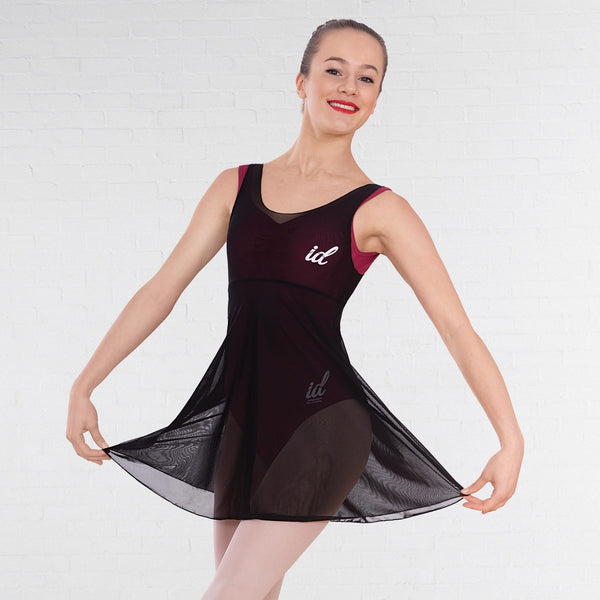 IDT Black Major Grades Mesh Dress - Dazzle Dancewear Ltd