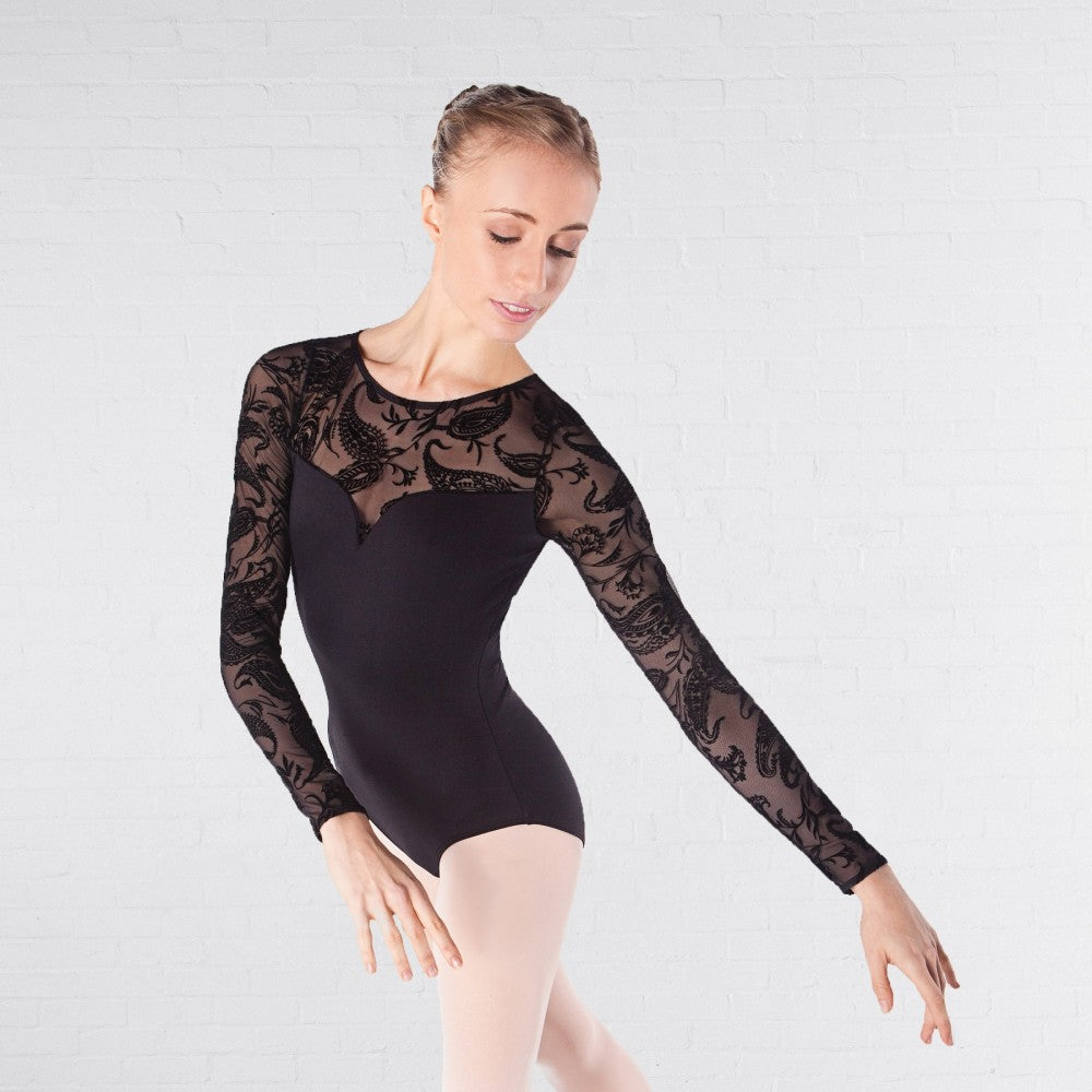 Intermezzo 31423 Bodymertatu Long Sleeved Lace Leotard - Dazzle Dancewear Ltd